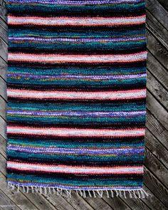 Handwoven vintage look rag rug   2.42' x 5.24' saga by Gunaspalete, $58.00
