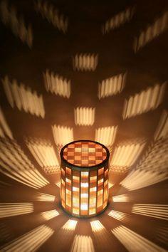round lamp Bamboo Light, Japanese Lighting, Japanese Lamps, Japanese Woodworking, Woodworking Lamp, Cool Lighting, Lighting Design, Star Lamp, Wooden Lamp
