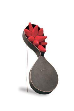 Victoria Ioannidou, Brooch, 2014,Bronze,Oxidation,Polymer clay,resin.