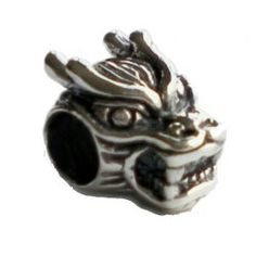 Carlo Biagi Silver Chinese Dragon Head Bead at Classic Beads