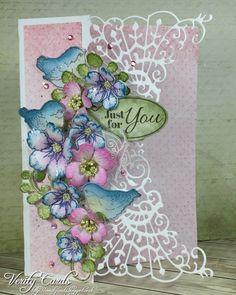 A #anniversary #card I made for my Aunt! @heartfeltcreations #heartfeltcreations #card #cardmaking #weddingideas #wedding #bird #diyflowers #paperart #paperflowers #diecut #rubberstamp #crafty #hobby