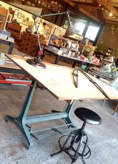 Vintage German drafting table