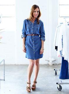 A-Z: How to Wear Espadrilles, denim shirt dress, chambray dress, espadrilles, denim, spring style, spring trends