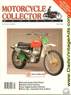 1969 CZ Model 980 Collectible Motorcycle