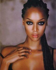 Stunning close up of Tyra Banks