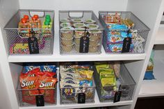 "Self-Serve Snacks... Organize ""anytime"" snacks so that kids can help themselves (when they are ready for the responsibility). Allowing options helps kids feel independent and in control. One less after-school battle? Perfect!"