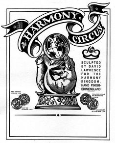 The label for the first range of Harmony Kingdom figures I carved in about 1995