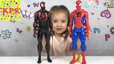 Человек Паук против Венома Игрушки для мальчиков Видео для детей Unboxin...