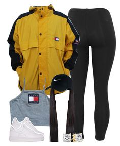 """""""Untitled #1413"""" by lulu-foreva ❤ liked on Polyvore featuring Tommy Hilfiger and NIKE"""