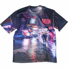 비오는 풍경 네온  #커스텀티셔츠 #티셔츠 #풀프린팅 #캔버스티 #주문제작 #소량단체티 Success, Neon, Canvas, Mens Tops, T Shirt, Design, Fashion, Tela, Supreme T Shirt