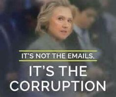 Correction: It's not JUST the emails, it's ALSO the corruption, the disenfranchisement of the people because SHE doesn't give a damn about US or what WE want! #stillsanders