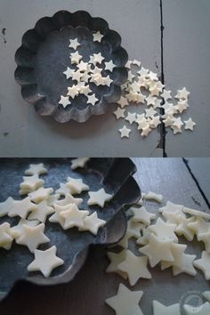 """Tin of stars from """"My Black Book"""" Natural Christmas, White Christmas, Christmas Holidays, Christmas Decorations, Xmas, Stars Classroom, Look At The Stars, Star Wars, Twinkle Twinkle Little Star"""