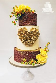 Autumn Wedding Cake by Rose Dream Cakes - http://cakesdecor.com/cakes/256294-autumn-wedding-cake