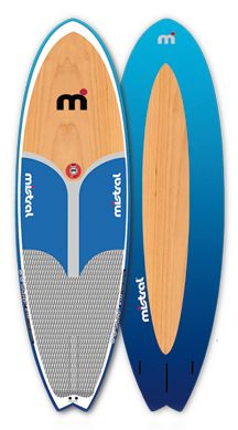 Mistral is well known for its wind surfing roots and great looking designs, and their SUP WAVE model in their stand-up paddle board series is a great example of that heritage.  Great looking board.