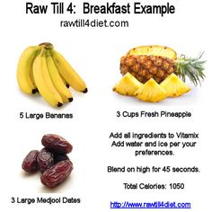 Raw Till 4 Day Three Breakfast - Raw Till 4 - My bestest, most favorite raw till 4 smoothie ever....... http://rawtill4diet.com/raw-till-4-diet-plan/raw-till-4-day-three-breakfast/