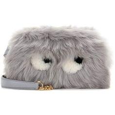 Anya Hindmarch Eyes Mini Fur Crossbody Bag