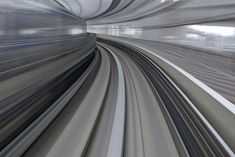 Long Exposure Photos of Yurikamome High Speed Rail Transit