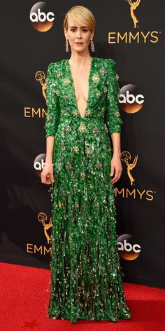 See the Hottest Looks from the 2016 Emmy Awards Red Carpet - Sarah Paulson from InStyle.com