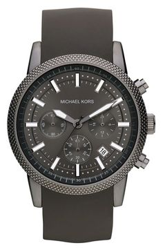 Michael Kors Chronograph Silicone Strap Watch, 43mm available at #Nordstrom