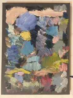 """Abstract Autumn, 2016, oil on canvas, 12""""x9"""""""