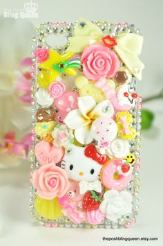 Decoden is a trend where girls decorate phones, nails, and pretty much anything with tons of Kawaii accessories.