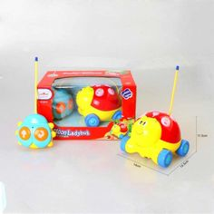 Emorefun Cartoon R/C Ladybug Car 2CH Radio Control Toy Toddlers with Music-New #EmorefunToys