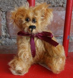 4 Inch Gold Mohair Bear by stearnsybears on Etsy, $30.00
