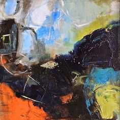 """Abstract Artists International: Abstract Expressionism Painting, Contemporary Art """"Fjords 2"""" by Abstract Artist Nijole Rasmussen"""