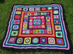 stunning picnic blanket vibrant colours by thespannerworks on Etsy, £250.00