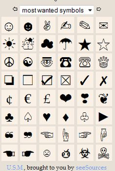 167 #Symbols to Spice Up Your @Twitter and @Facebook Updates