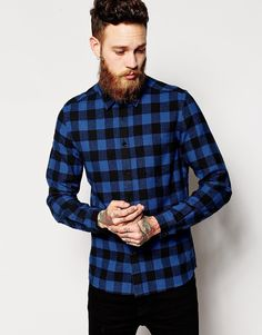 Shirt by ASOS Lightweight cotton Buffalo check design Point collar Chest  pocket Button through front Regular fit - true to size Machine wash Cotton  Our ... bf18589c7c