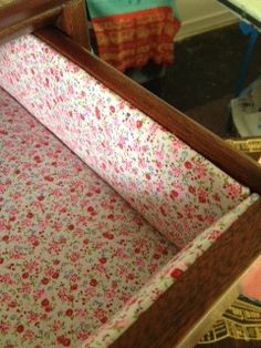 Some will get as much pleasure from this padded lined drawer as I did, some won& Fabric Drawers, Diy Drawers, Dresser Drawers, Dresser Drawer Organization, Makeup Drawer, Kitchen Storage, Paper Crafts, Make It Yourself, Diy Ideas