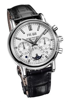 The Watch Quote: The Patek Philippe ref. 5204 Split-seconds chronograph with perpetual calendar watch - The circle of classic Patek Philippe chronographs closes Men's Watches, Dream Watches, Fine Watches, Cool Watches, Fashion Watches, Patek Philippe, Der Gentleman, Expensive Watches, Beautiful Watches