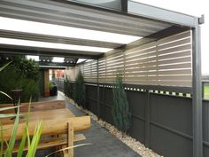 Deck Designs With Attached Pergola And Privacy Walls
