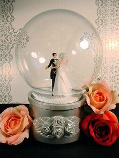 kitschy wedding snow globe-etsy