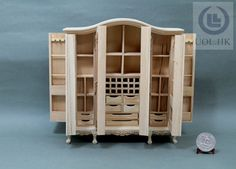 miniature 112 scale doll house 6 doors big wardrobeunfinished affordable dollhouse furniture