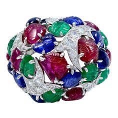 David Webb Tutti Frutti Diamond Ring | 1stdibs.com