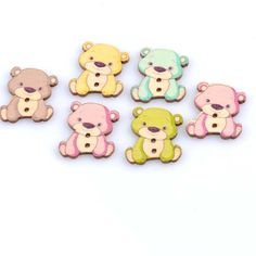 Cheap buttons for sewing, Buy Quality decorative buttons directly from China buttons buttons Suppliers: 50pcs 23x27mm Lovely Bear Painted Wooden decorative Buttons For Sewing Scrapbooking Crafts MT0967