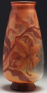 Galle Vase with Lilies Design