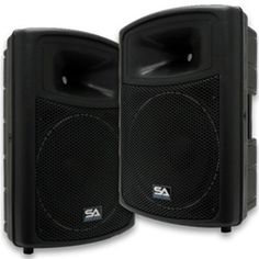 Great powered PA speakers for bands, church or karaoke at an extremely low price.
