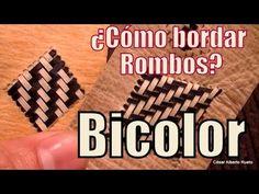 """¿Cómo bordar rombos en cuero? """"Trama Pluma bicolor"""" El Rincón del Soguero - YouTube"""