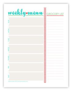 46 Best Free Printable Menu Planners Images Calendar Stationery
