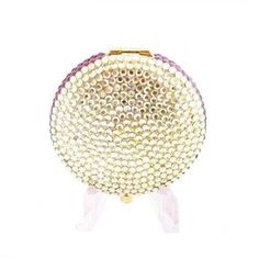 Estee Lauder compact golden halo yellow amethyst crystal