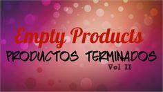 Empty Products  |  Productos Terminados ♥ Vol II .