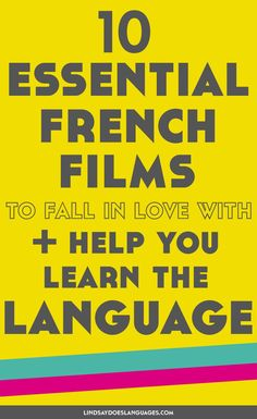 Looking for some essential French films to help you learn the language? These 10 will get you started and give you a French film to fall in love with. French Language Lessons, French Language Learning, Learn A New Language, French Lessons, Spanish Lessons, Spanish Language, Language Study, German Language, How To Speak French