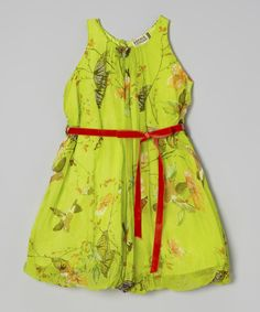 Another great find on #zulily! Sophie Catalou Green Sparrow Vivaldi Dress - Girls by Sophie Catalou #zulilyfinds