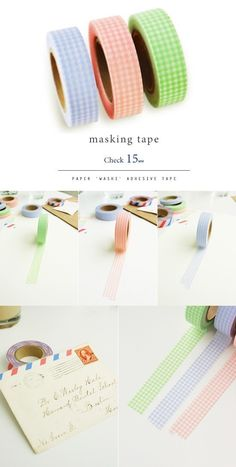 Gingham Check Adhesive Masking Tape (0.6in) available on Etsy! A multi-use adhesive masking tape. This washi paper tape will give you fun ideas about how to decorate stuff. It is easily to cut and peel off. Great for scrapbooking, bujo, bullet journal, Label making, card making, wrapping gifts, fun school supplies or project, and more. Fans of kawaii Japanese and Korean stationery will love this washi tape! Design and made in South Korea, shipped worlwide from Etsy. #stationery #affiliate…