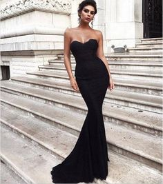 May 2020 - Black Simple Mermaid Long Prom Dress Sweetheart Satin Formal Evening Dresses Party Gowns sold by Lalamiya. Shop more products from Lalamiya on Storenvy, the home of independent small businesses all over the world. Sweetheart Prom Dress, Mermaid Prom Dresses, Bridesmaid Dresses, Wedding Dresses, Bride Dresses, Bridal Gowns, Elegant Dresses For Women, Pretty Dresses, Beautiful Dresses