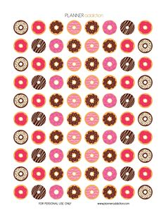 Free Printable Planner Stickers - Donuts