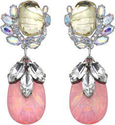 Mawi Teardrop Flower Gemstone Earring